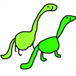 green dinosaur pair