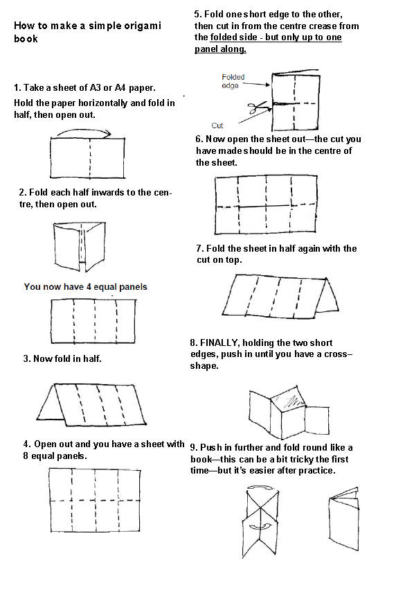 how to make an origami book drureport515webfc2com